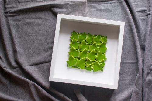 Quadro foglie verdi