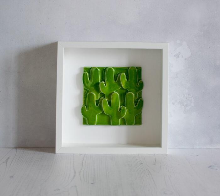 quadro cactus verdi